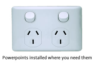Electrical Powerpoint installed